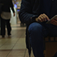 Man in Trade Center Using Tablet - VideoHive Item for Sale