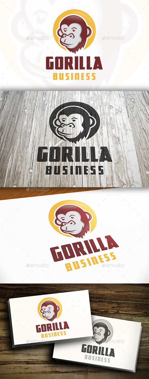 GraphicRiver Gorilla Logo Template 9572407