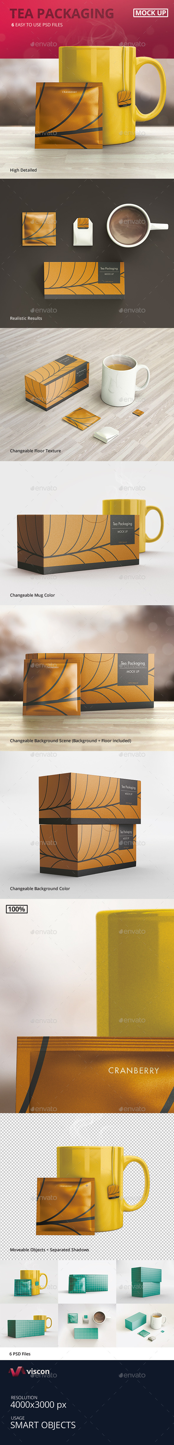 GraphicRiver Tea Packaging Mock-Ups 9572486