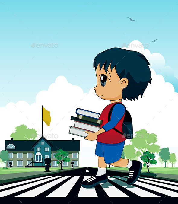 GraphicRiver Children to School 9572591