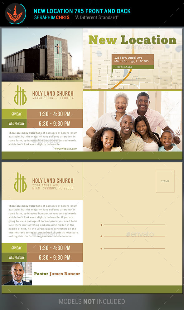 GraphicRiver New Location Church Flyer and Mailer Template 9572606