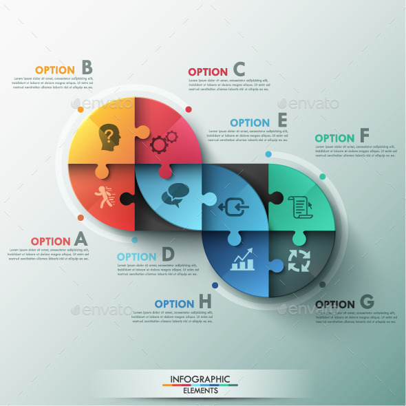 GraphicRiver Modern Infographic Puzzle Template 9572630