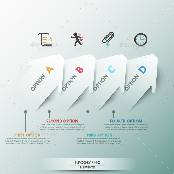 GraphicRiver Moder Infographic Template With Arrows 9572862