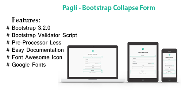 CodeCanyon Pagli Bootstrap Accordion Collapse Form 8851118