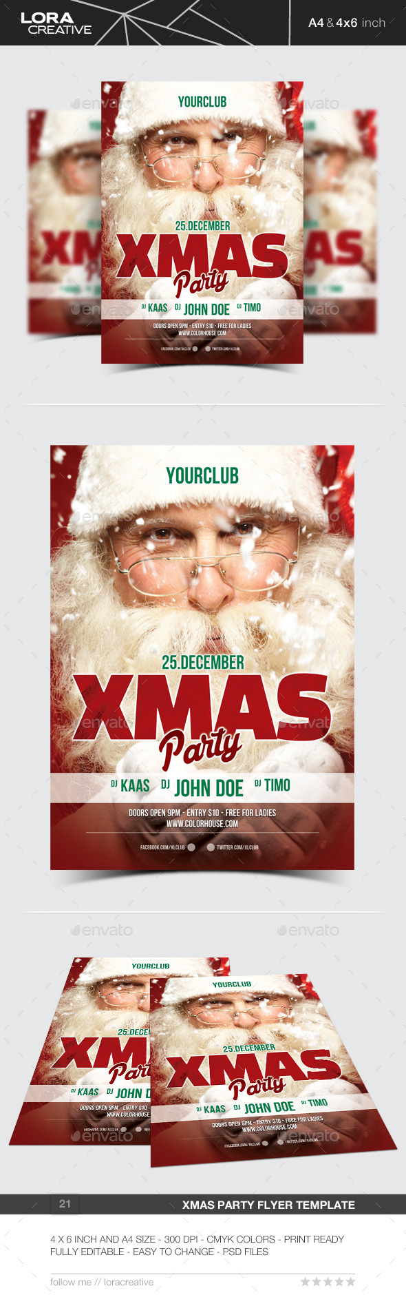 GraphicRiver Xmas Party Flyer Poster 21 9573065