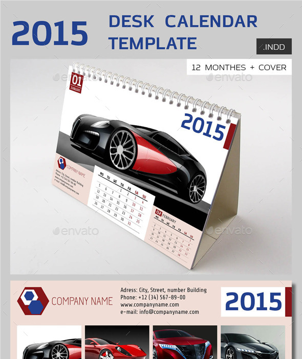 GraphicRiver 2015 Desk Calendar vol.1 9500587