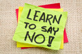 learn to say no advice - PhotoDune Item for Sale