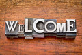 welcome word in metal type - PhotoDune Item for Sale