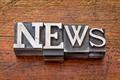 news word in metal type - PhotoDune Item for Sale