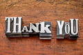 thank you in metal type - PhotoDune Item for Sale