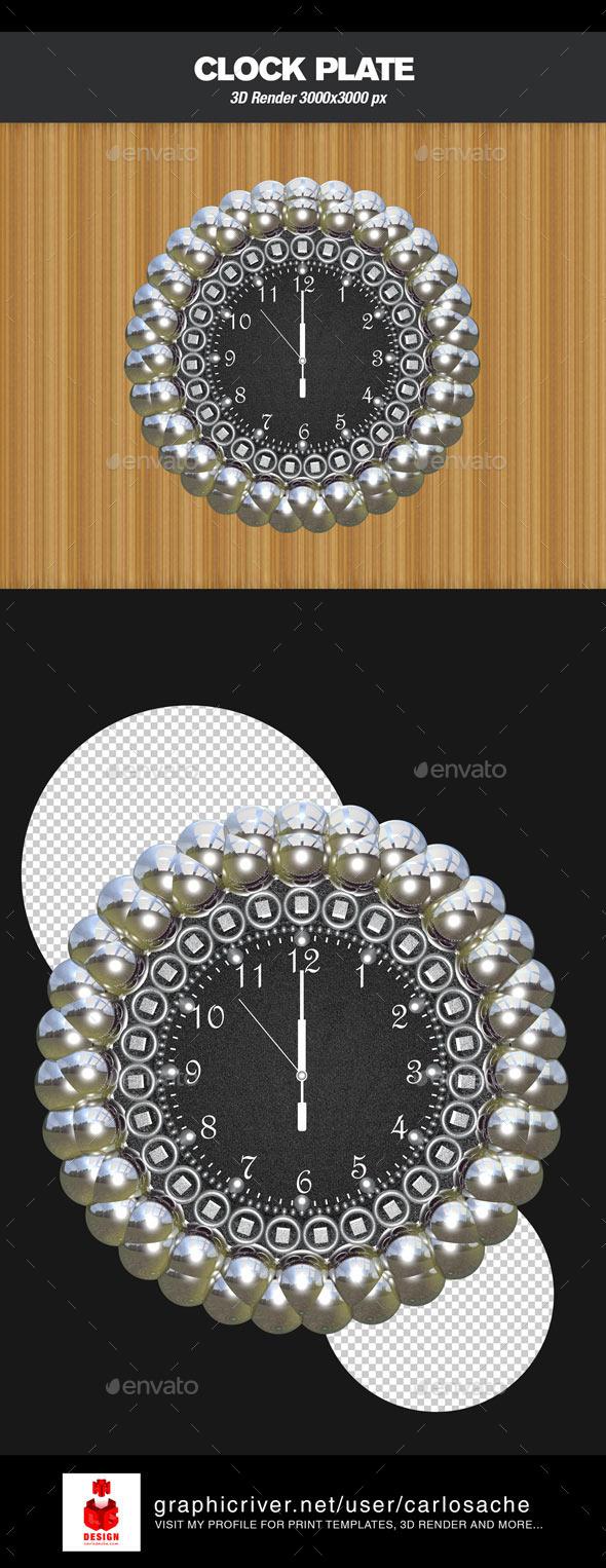GraphicRiver Clock 3D Render 9573486