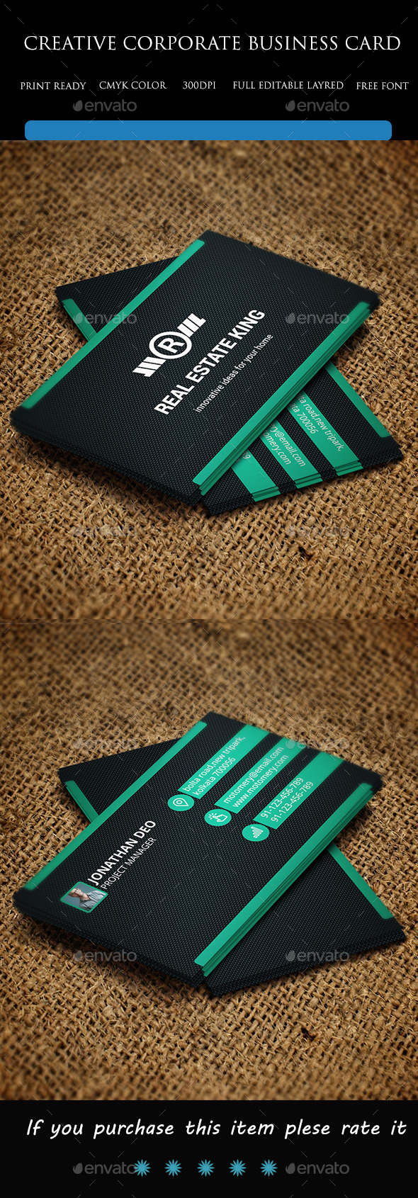 GraphicRiver Creative Corporate Business Card 9573500