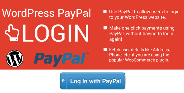 CodeCanyon WordPress PayPal Login Plugin 9465674