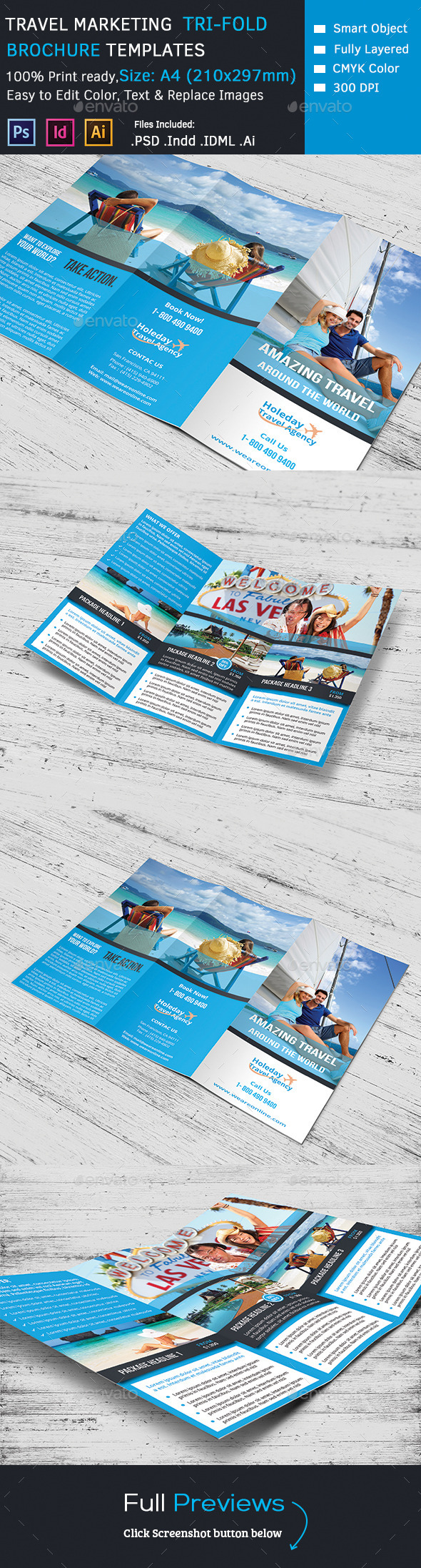 GraphicRiver Travel Trifold Brochure 9573636