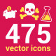 475 Vector Icons - GraphicRiver Item for Sale