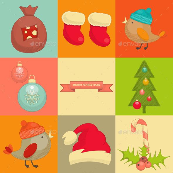 GraphicRiver Christmas Icons 9573768