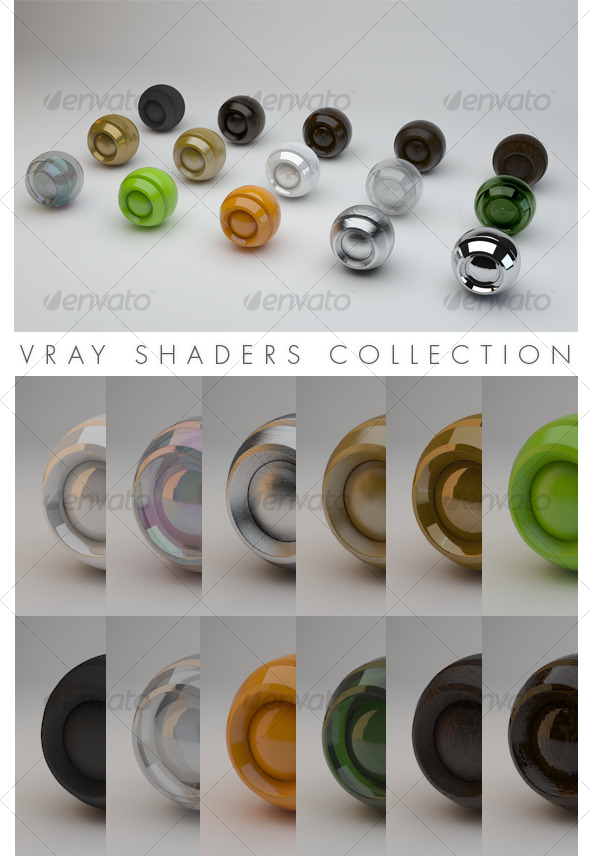 Vray Shaders Collection - 3DOcean Item for Sale