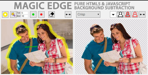 CodeCanyon Magic Edge Pure JavaScript Background Remover 9535411