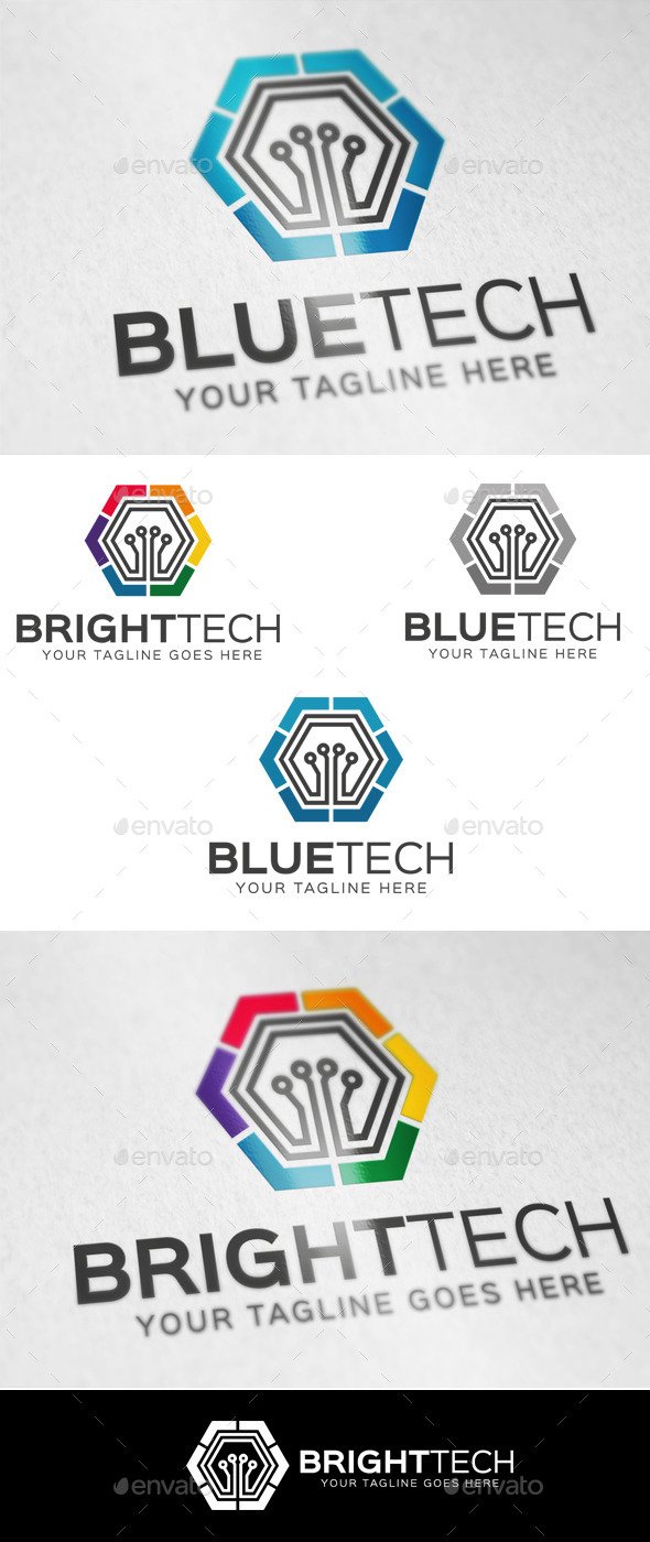 GraphicRiver Blue Tech Logo Template 9574580