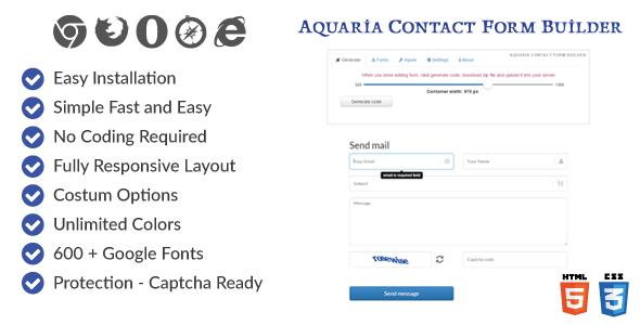 CodeCanyon Aquaria contact form builder 9289370