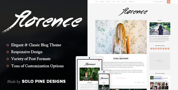 ThemeForest Florence A Responsive WordPress Blog Theme 9574909