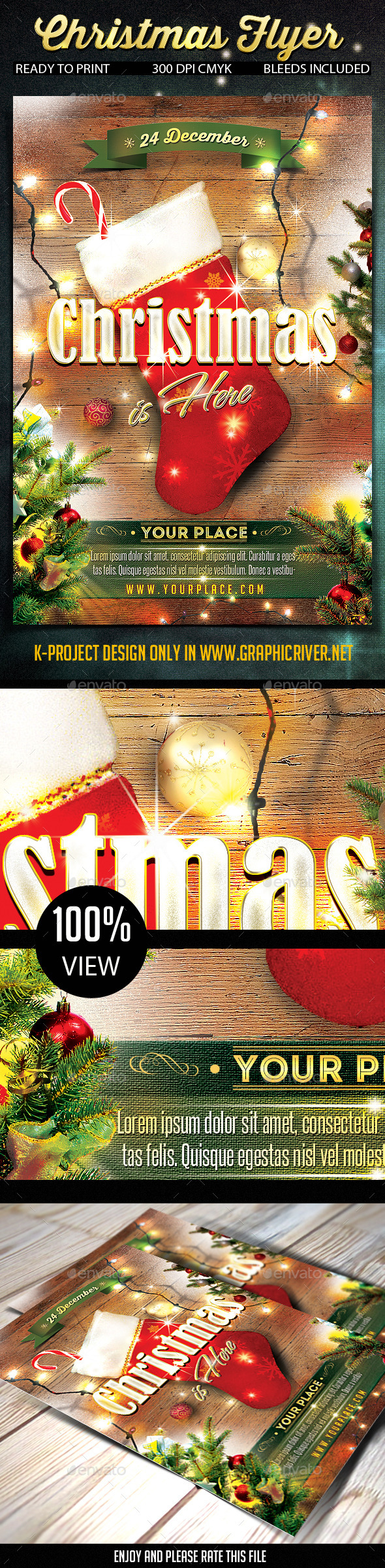 GraphicRiver Christmas Flyer 9527779