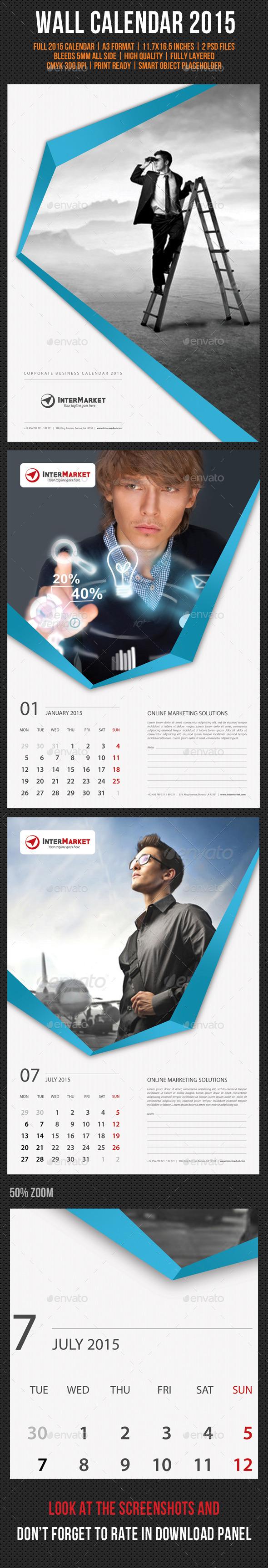 GraphicRiver Corporate Wall Calendar 2015 V02 9575512