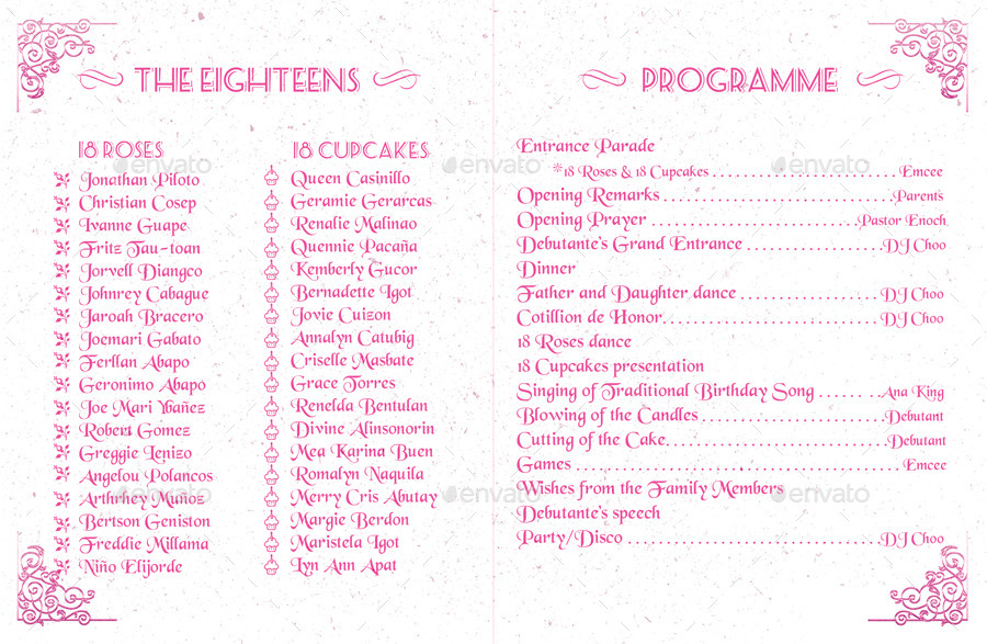Debut Party Program Pictures to Pin on Pinterest - PinsDaddy