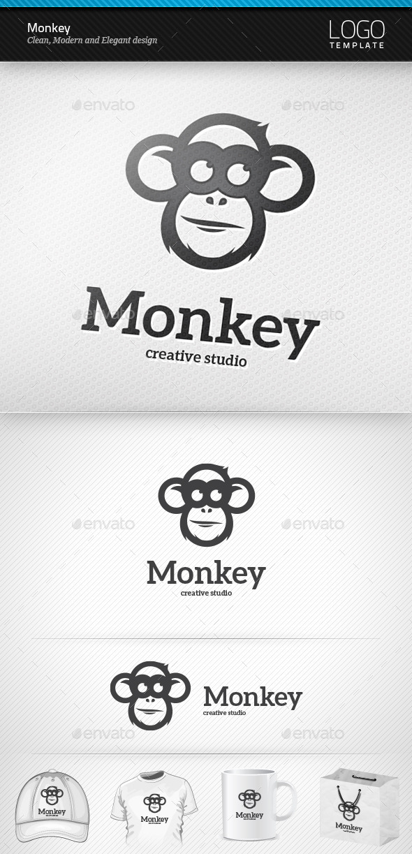 GraphicRiver Monkey Logo 9575619