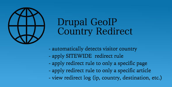 CodeCanyon Drupal GeoIP Country Detect & Redirect 9575654