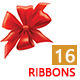 16 Red Ribbons - GraphicRiver Item for Sale