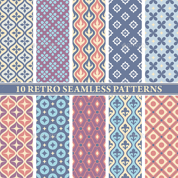 GraphicRiver Retro Seamless Patterns 9575671