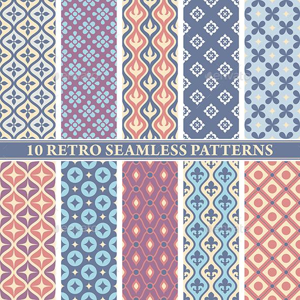 GraphicRiver Retro Seamless Patterns 9575671