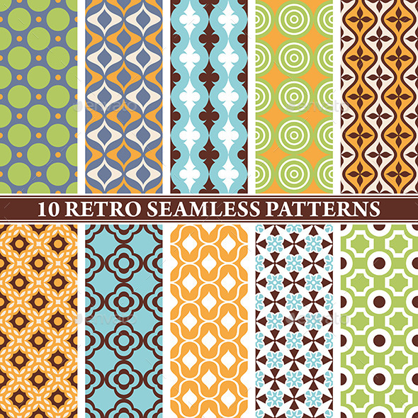 GraphicRiver Retro Seamless Patterns 9575676