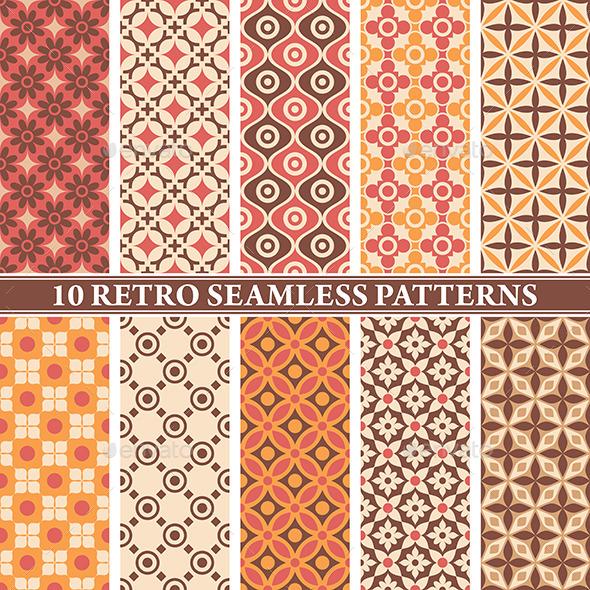 GraphicRiver Retro Seamless Patterns 9575698