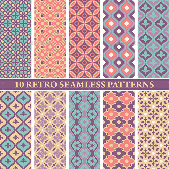 GraphicRiver Retro Seamless Patterns 9575702