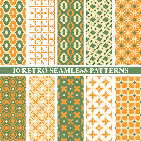 GraphicRiver Retro Seamless Patterns 9575703