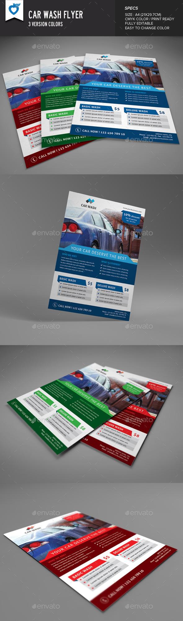 GraphicRiver Car Wash Flyer 9575729