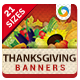 Thanksgiving Web Banner Design - GraphicRiver Item for Sale