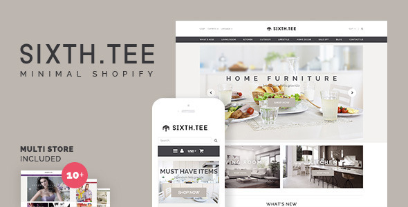SixthTee theme is made by a Shopify Experts:       Included in the purchase package: Theme package to install o
