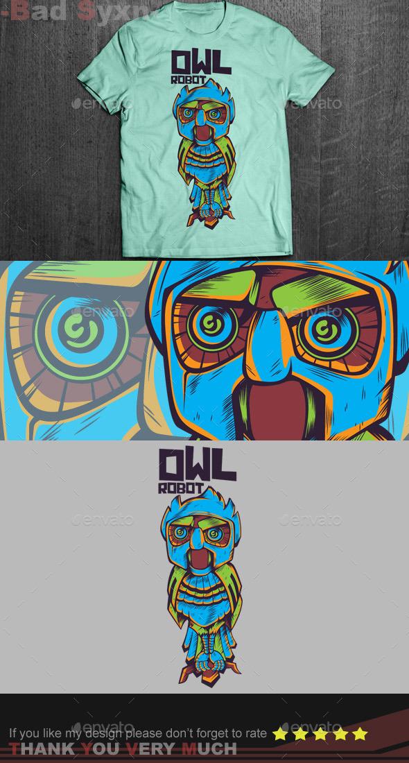 GraphicRiver Owl Robot 9516420