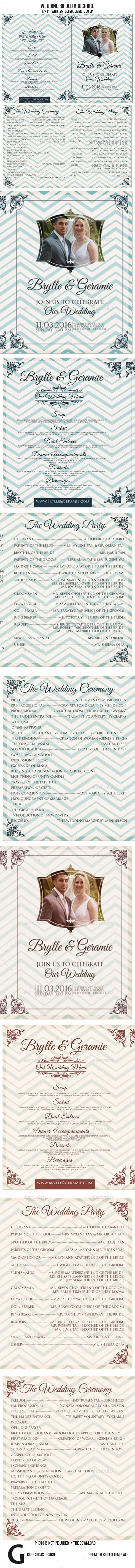 GraphicRiver Wedding Bi fold Brochure 9575825