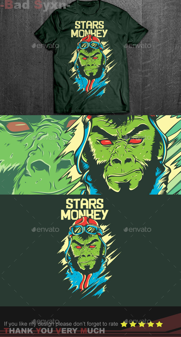 GraphicRiver Stars Monkey 9516299
