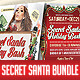 Secret Santa Christmas Flyer Bundle - GraphicRiver Item for Sale