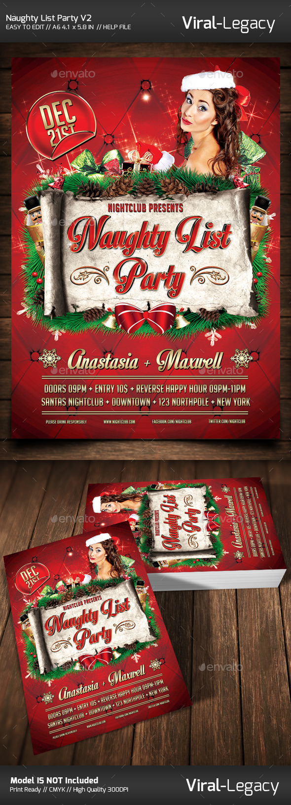 GraphicRiver The Naughty List Party V2 9526087