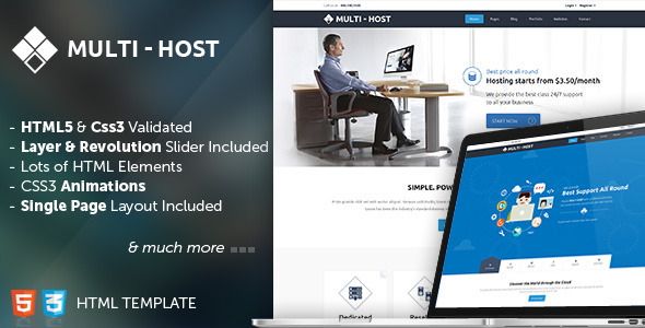 ThemeForest Multi Host Responsive Hosting Template 9575930