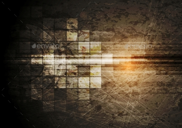 Grunge Tech Background