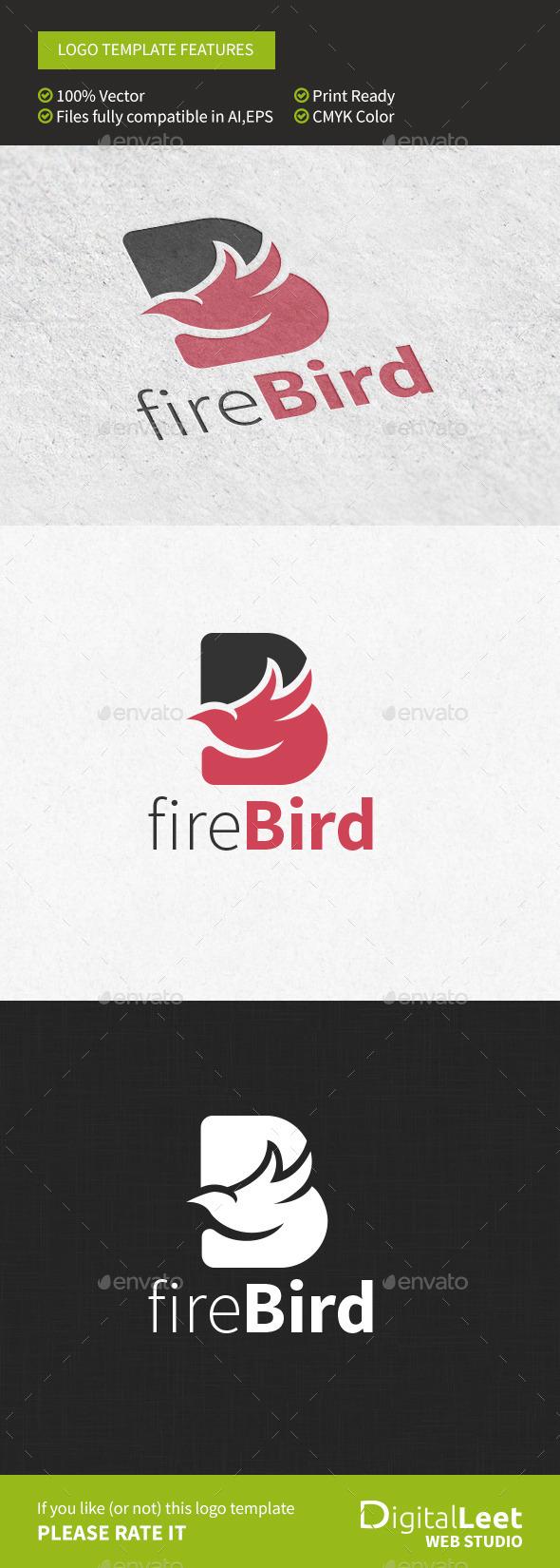 GraphicRiver Firebird B Letter Logo template 9576047