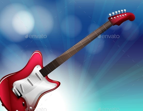 GraphicRiver Red Electric Guitar 9576048