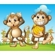 Two Monkeys with Bananas - GraphicRiver Item for Sale